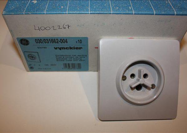 Vynckier contactdoos met aarding 2P 16A 380V -0
