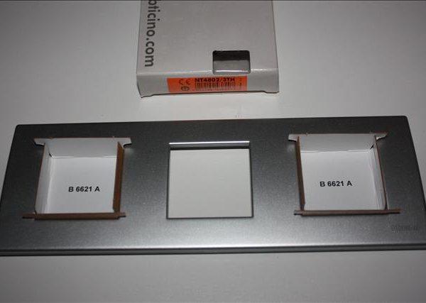 Bticino Light Tech Afdekplaat 3x2 modules 230x80mm-0