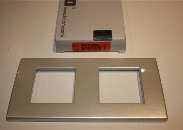 Bticino Light Parelgeel Afdekplaat 2x2 modules 159x80mm-0