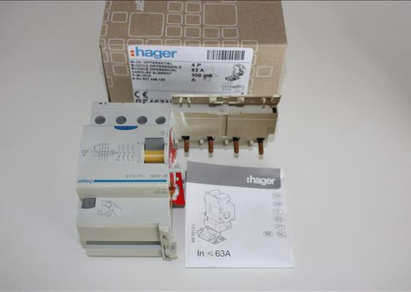 Hager aardlek element differentieel 63A 4P 300mA klasse A-0