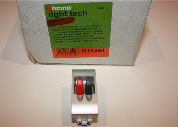 Bticino Light Tech luidspreker connector 1 module automatische klemmen-0