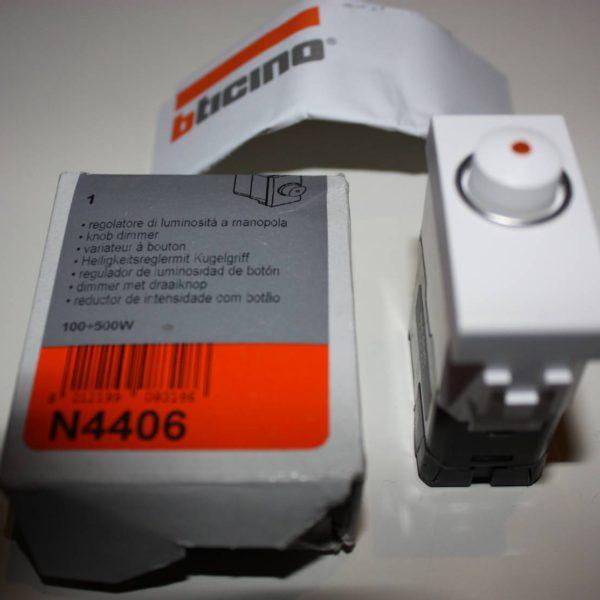 Bticino Light draaidimmer - 230V - 100/500W 1 module-0