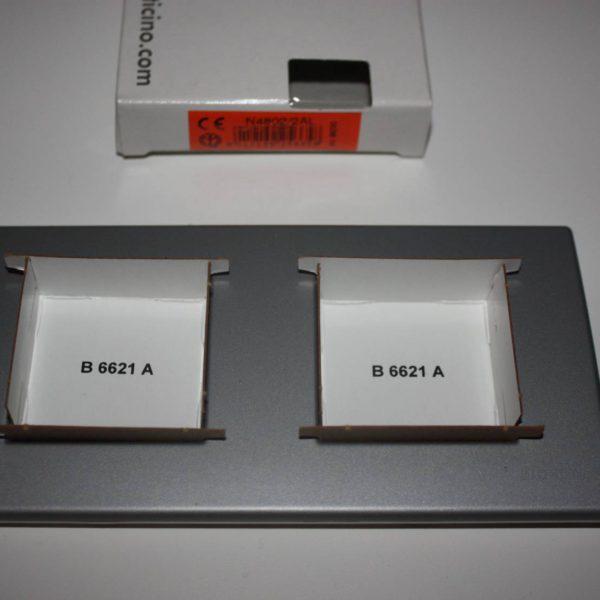 Bticino Light Aluminium Afdekplaat 2x2 modules 159x80mm-0