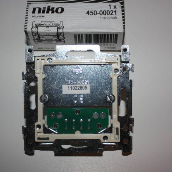 Niko enkelvoudige muurprint met sokkel voor Nikobus drukknop-0