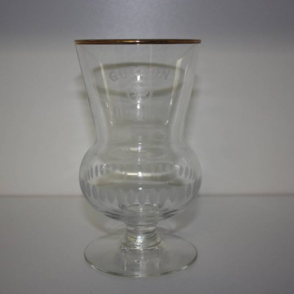 Gordon Finest Gold glas op voet met maatstreep gouden rand 33cl-0