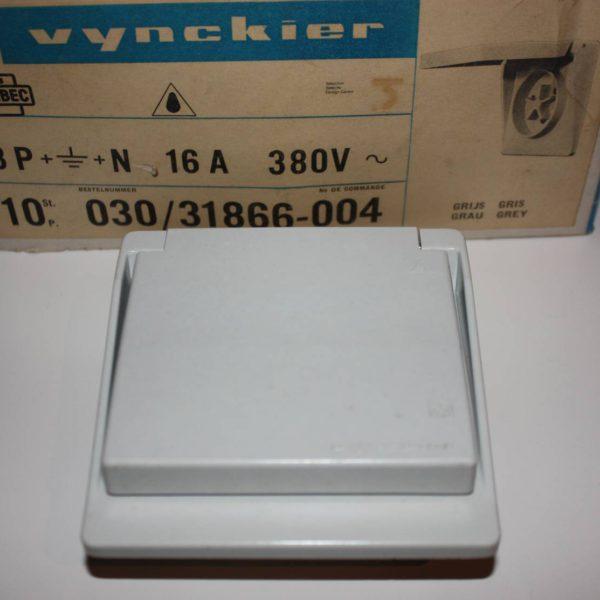 Vynckier contactdoos met aarding 3P+N 16A 380V met klapdeksel IP44-0