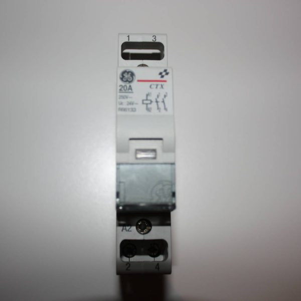 General Electric relais 24V wisselspanning 2xNO 20A 250V-0