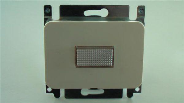 Niko PR20 creme inbouw drukknop / signalisatieapparaat met lampje-0